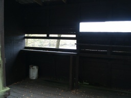 There is a space for wheelchair users in the hide.