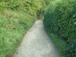 The slope on the path leading into Worsbrough Country Park is 12% (1:9).