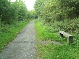 There is another bench just after the Hound Hill Lane bridge.