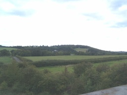 The view from the motorway bridge looking towards Stainborough Hill.