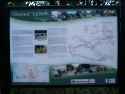 A Trans Pennine Trail  information board tells the story of the old railway line and shows details of other trails in the area.