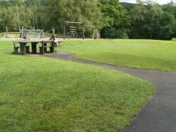 There is an accessible picnic table by the play area.