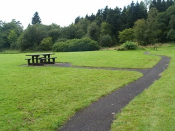 There is a second accessible picnic table by the play area.