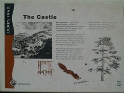 The Castle sign gives more information about  local history.