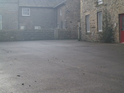 The car park to the left of the cottages may be used by visitors wishing to undertake the farm trail.