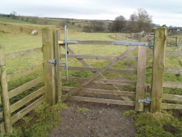 The gate is also two way opening, self closing with a latch that can be easily operated at high and low levels.