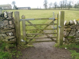 The gate is also two way opening, self closing with a latch that can be easily operated at high and low levels