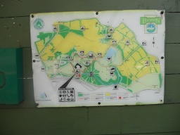 A map board near the car park illustrates the different walking routes.
