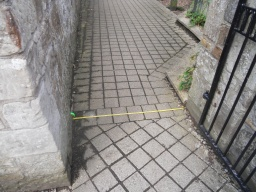 The width of the gate at the entrance to the Gardens Walk is 110cm / 44 inches.