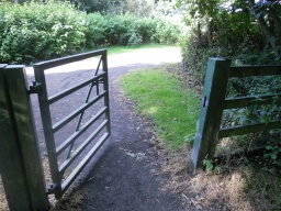 Go through the wicket-gate and turn right.