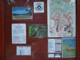 Notices of events and other local details are on the reverse of the inforation board.