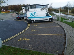 There are disabled parking spaces by the roundabout by the visitor centre.