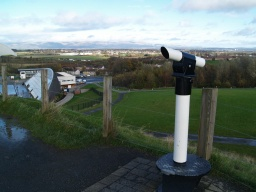 At this higher level there are good views across Falkirk and the Forth Valley.
