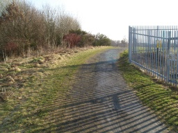 The slope back up to the tow path also has a gradient of 13% (1 in 8) on an uneven surface.