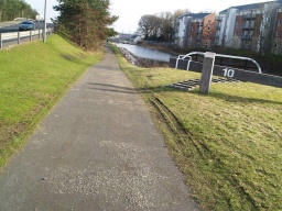 If you continue along this section of the tow path you will have to use the steps at the railway bridge.