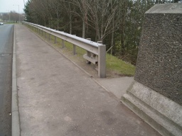 To the right are the steps back down to the canal tow path.
