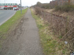 The tow path is a little bit narrower (1m in places) along this section.