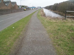 The path surface remains firm but a little uneven.