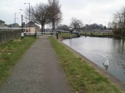 At lock 16 there is a barrier across the tow path.