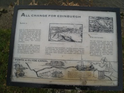 There is an information board giving some details about the history of the canal.
