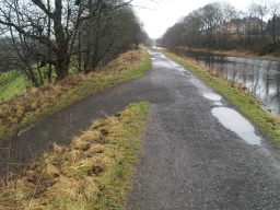 Stay on the two path. The path to the left leads to Dennyloanhead,