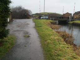 The surface of the last part of the path to Bridge Street in Bonnybridge is uneven in places.