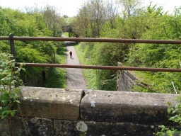 The Bridge crosses the old railway line that is now the Devon Way.