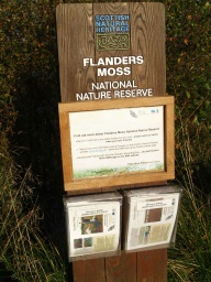 Leaflets telling the story of Flanders Moss are available under the sign just after the bridge.