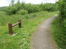There is a seat near the furthest point on the trail from the start.