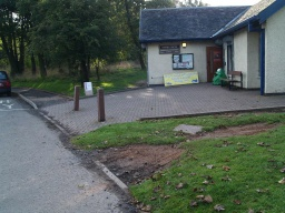The path starts at the Visitor Centre. There are three car parking areas nearby. The disabled parking is immediately in front of the Visitor Centre. There are accessible toilet facilities and refreshments available at the Centre.  The route is used by some cyclists and horse riders.