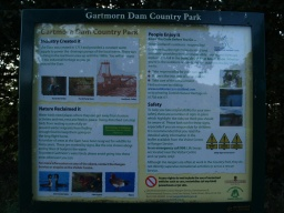 Even if the park centre is closed there are signs that give information about the Country Park.