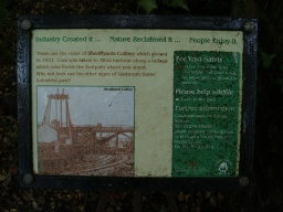 There is an information board with some history of mining industry in the area.