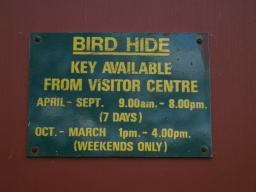 Bird Hide opening hours