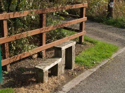 A mounting block for horse riders may also serve as a perch to rest on.