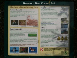 There is an information board with details on the history of the area and wildlife inhabiting the reservoir.