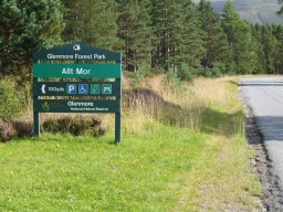 The car park entrance is on the left about a mile beyond Glenmore Forest Visitor Centre on the road to the ski centre.Ordnance Survey Grid Reference: NH 982 088