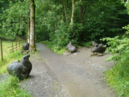 The trail has lots of interesting sculptures to see.