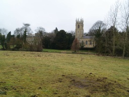The path gives good views of the village church.