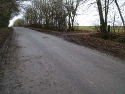 After about 100m the trail turn  onto  the farm track to the right.