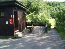 Ramped access serves the disabled toilet facilities which are about 100 metres from the visitor centre