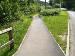 The second half of the walk follows a slightly narrower path on which it may not be possible to walk side by side with a companion.
