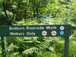 The riverside walk is not used by cyclists or horse riders.