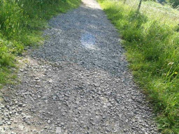 Some short sections of the path have loose stones that make it a little uneven and unstable.