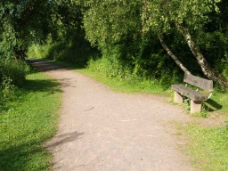 Benches are provided regularly along the Kingfisher Walk