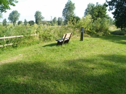 A pleasant spot in the west meadow to enjoy the environment a little way from the path