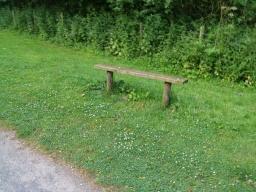 Simple benches can also provide a rest for walkers