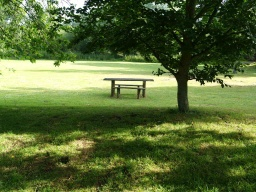 There are regular seats beside the paths and picnic tables are available on some of the meadows.