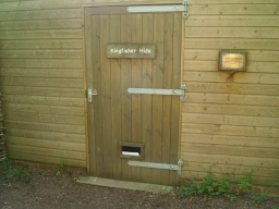 The Kingfisher Hide is not always open. Check at the visitor centre for times.