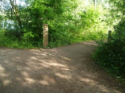 The path to the right is the return route to the visitor centre