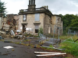 There is a good view of the ruins of Larbert House.